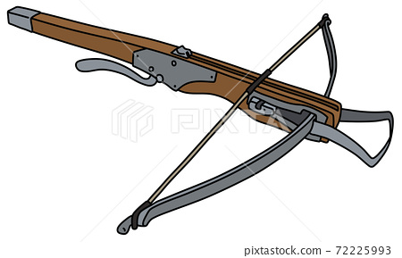 The historical wooden crossbow 72225993