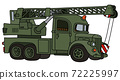 The funny classic military truck crane 72225997