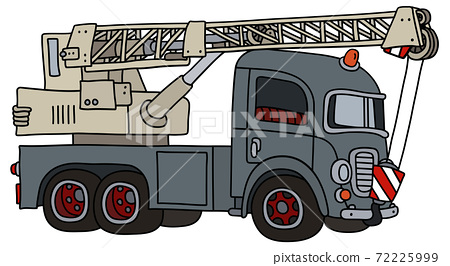 The funny old gray truck crane 72225999
