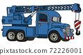 The funny classic blue truck crane 72226001