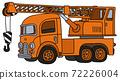 The funny old orange truck crane 72226004