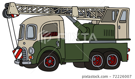 The funny old green and white truck crane 72226007