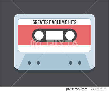 The Old Cassette. Isolated Vector Illustration 72230307