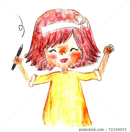 Study hand-drawn person illustration 72240055