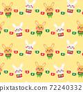 cute rabbits cartoon seamless pattern design 72240332