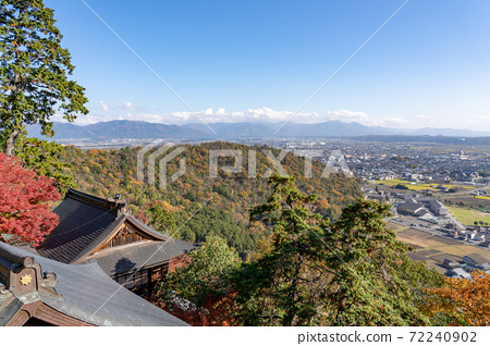 Higashiomi City, Shiga Prefecture, overlooking from the main shrine of Tarobogu 72240902