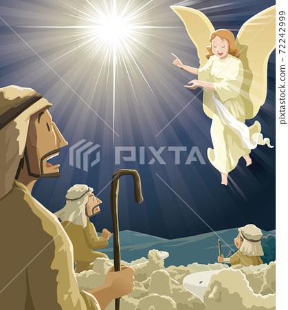 Christmas | Advent | Vector | Shepherd and Angel 72242999