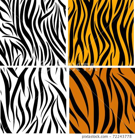 set of 4 striped zebra seamless pattern 72243778