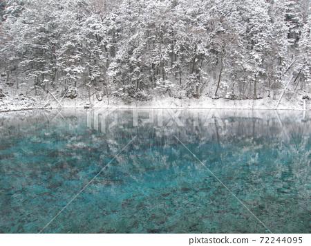 """중국 세계 유산 """"겨울 구채구"""" 72244095"""