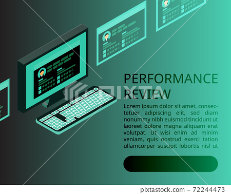 digital Employee performance review banner 72244473