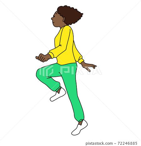 黑人婦女跳過 72246885