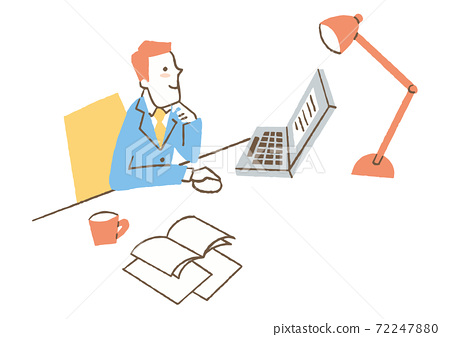 在計算機上工作的人 72247880