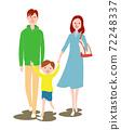 父母和孩子外出 72248337