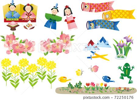 春天的插圖 72250176