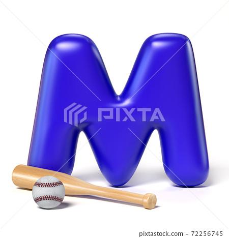 Toy font letter M 3d rendering 72256745