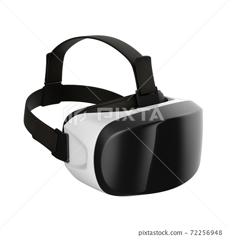 Virtual reality headset 3d rendering 72256948
