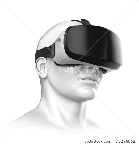 Virtual reality headset 3d rendering 72256952