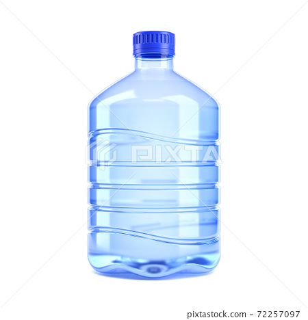 Big bottle of water on a white background 3d rendering 72257097