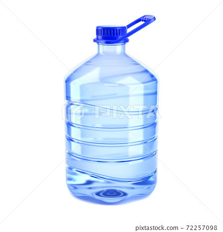 Big bottle of water on a white background 3d rendering 72257098