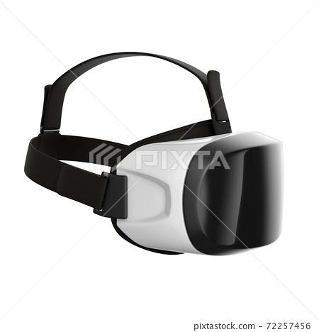 Virtual reality headset 3d rendering 72257456