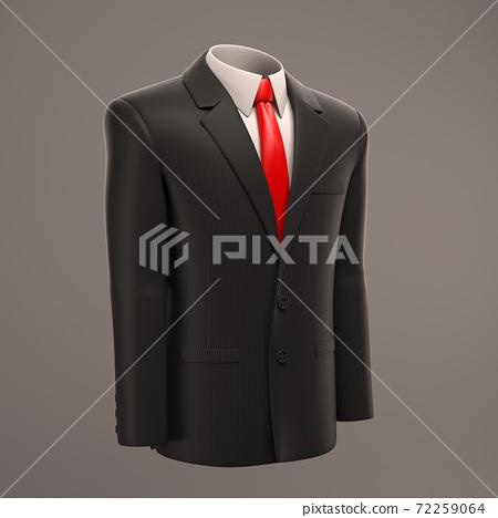 formal businessman suit 3d illustration 72259064