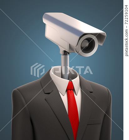 Robotic security camera 3d rendering 72259104