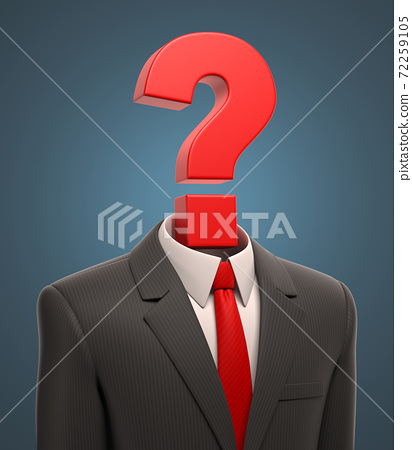 Business suit with question mark 72259105