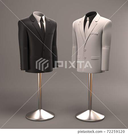 Formal suits on shop mannequins 72259120