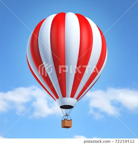 Hot air balloon 3d illustration 72259512