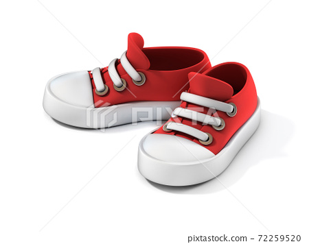 Cartoon sneakers on white background 3d illustration 72259520
