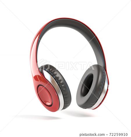 Headphones isolated on white background 72259910