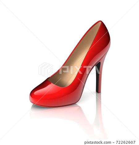 red high heel shoe 3d 72262607