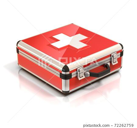 first aid kit - medical case 3d illustration 72262759