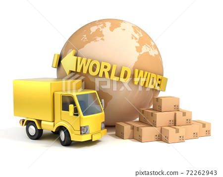 world wide shipping 3d illustration 72262943