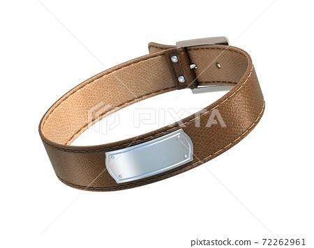 dog collar on white background 3d illustration 72262961