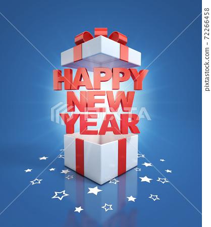 happy new year gift box 72266458