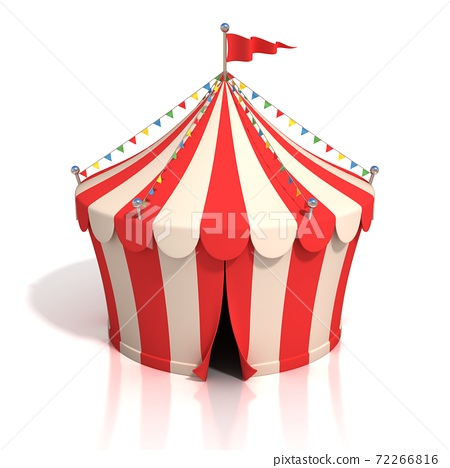 circus tent on white background 3d illustration 72266816