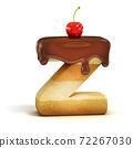 cake 3d font letter Z 72267030
