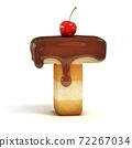 cake 3d font letter T 72267034