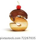 cake 3d font letter S 72267035