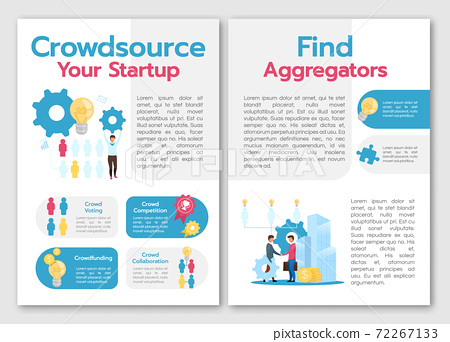 Crowdsource your startup brochure template 72267133
