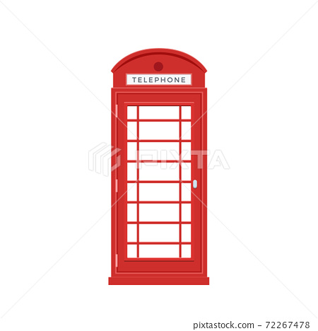 The Red Telephone Box. Isolated Vector Illustration 72267478