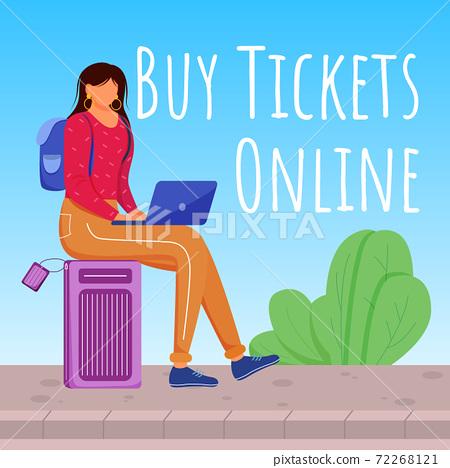 Buy tickets online social media post mockup 72268121