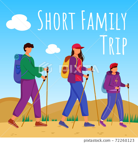 Short family trip social media post mockup 72268123
