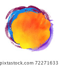 Multicolored grunge watercolor stain banner  72271633