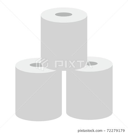 3廁紙的簡單圖標 72279179