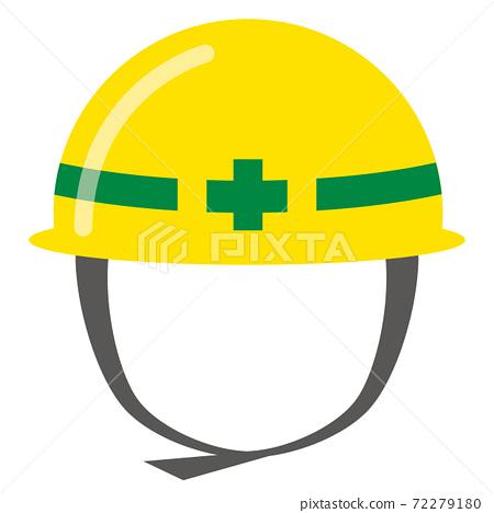 Simple icon of yellow helmet 72279180
