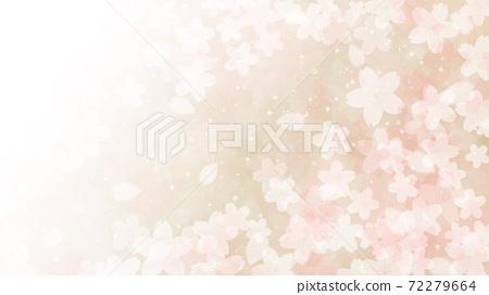 Cherry blossom background illustration petal cherry spring illustration material 72279664