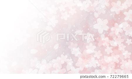 Cherry blossom background illustration petal cherry spring illustration material 72279665