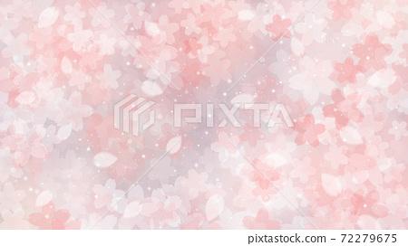 Cherry blossom background illustration petal cherry spring illustration material 72279675